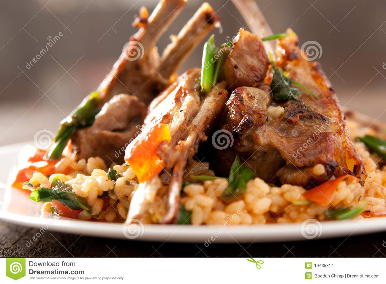 Lamb Chops with spicy rice