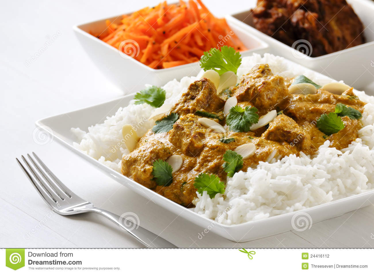 How could you describe amazing rice and curry?