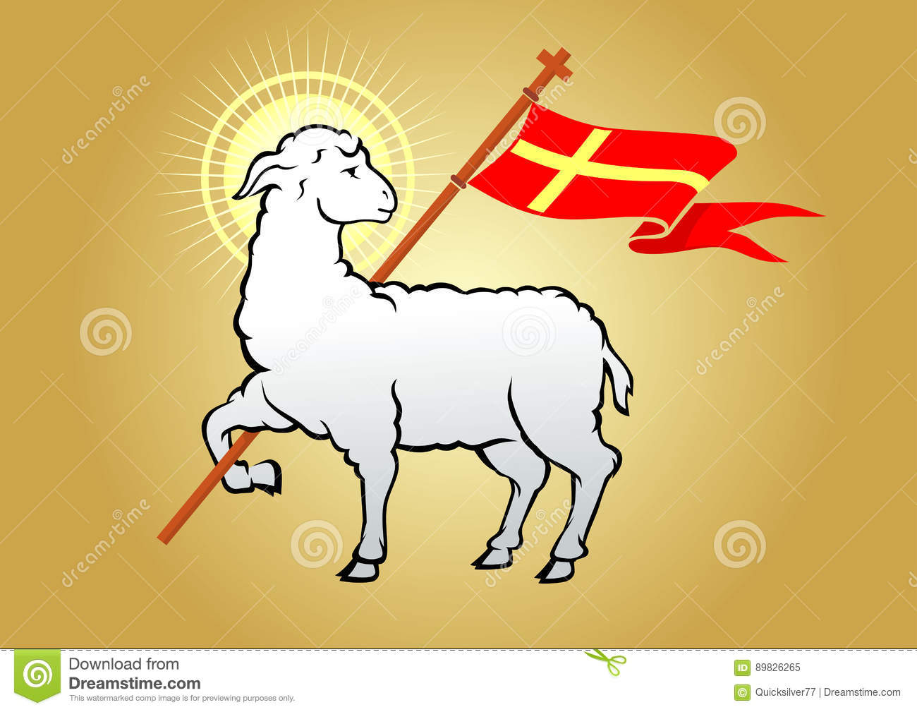 Lamb Of God Symbol Stock Vector Illustration Of Lamb 89826265