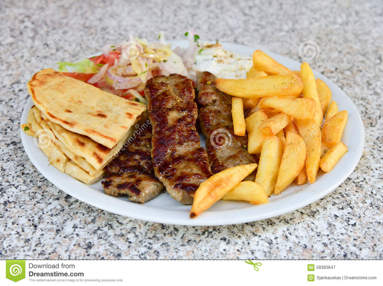 Lamb Kebab Plate Stock Image Image Of Minced Nutrition 58383847