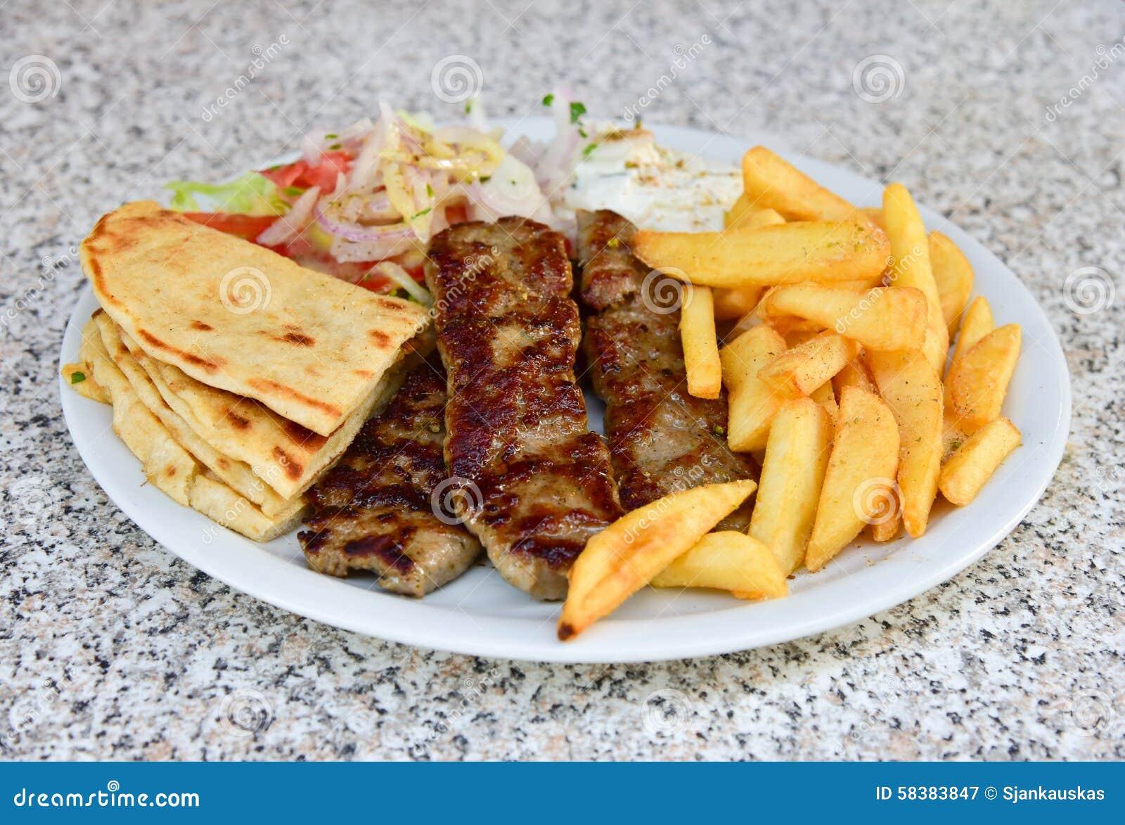 Lamb Kebab Plate Stock Image Image Of Minced Nutrition 58383847