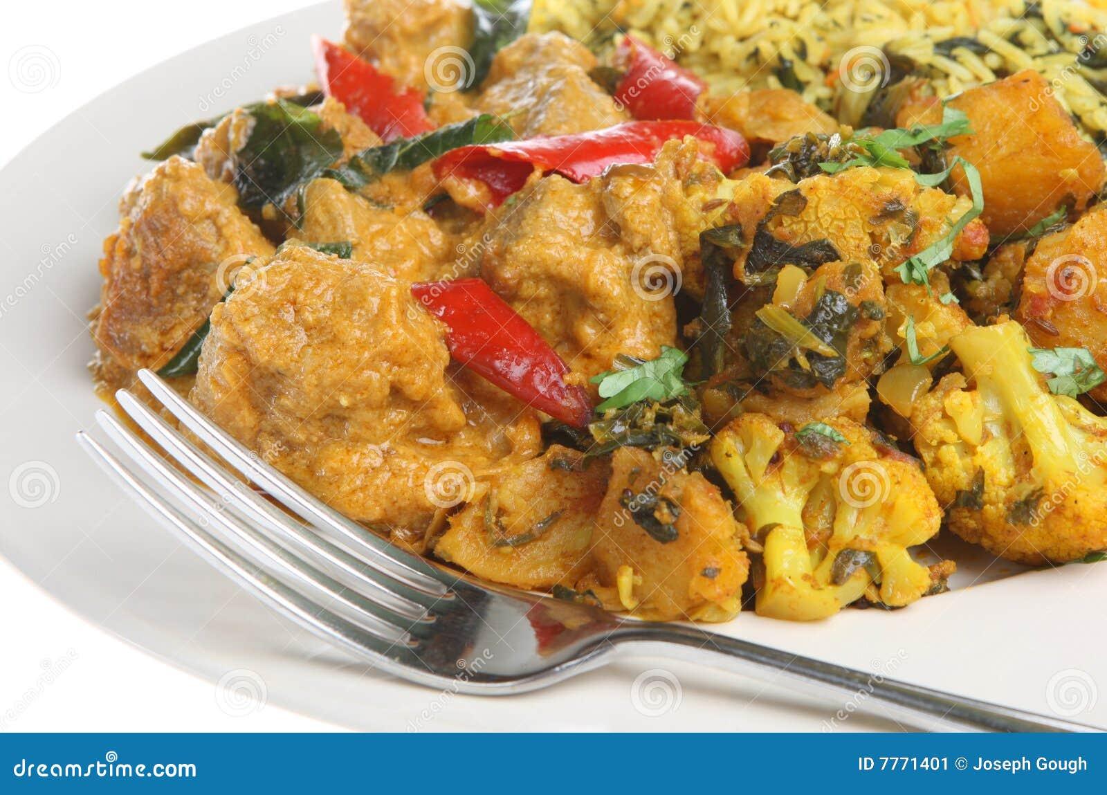 Indian Food Lamb Korma