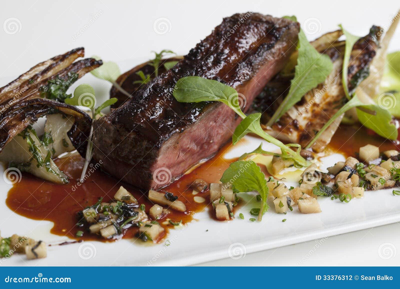 Sous Vide lamb with fennel.