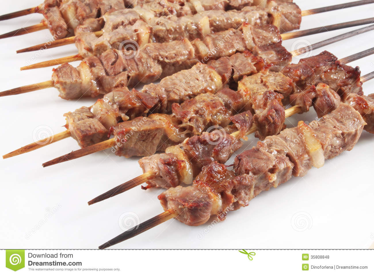 Lamb on skewers stock photo. Image of roasted, gourmet - 35808848 for Cooked Lamb Meat  75sfw