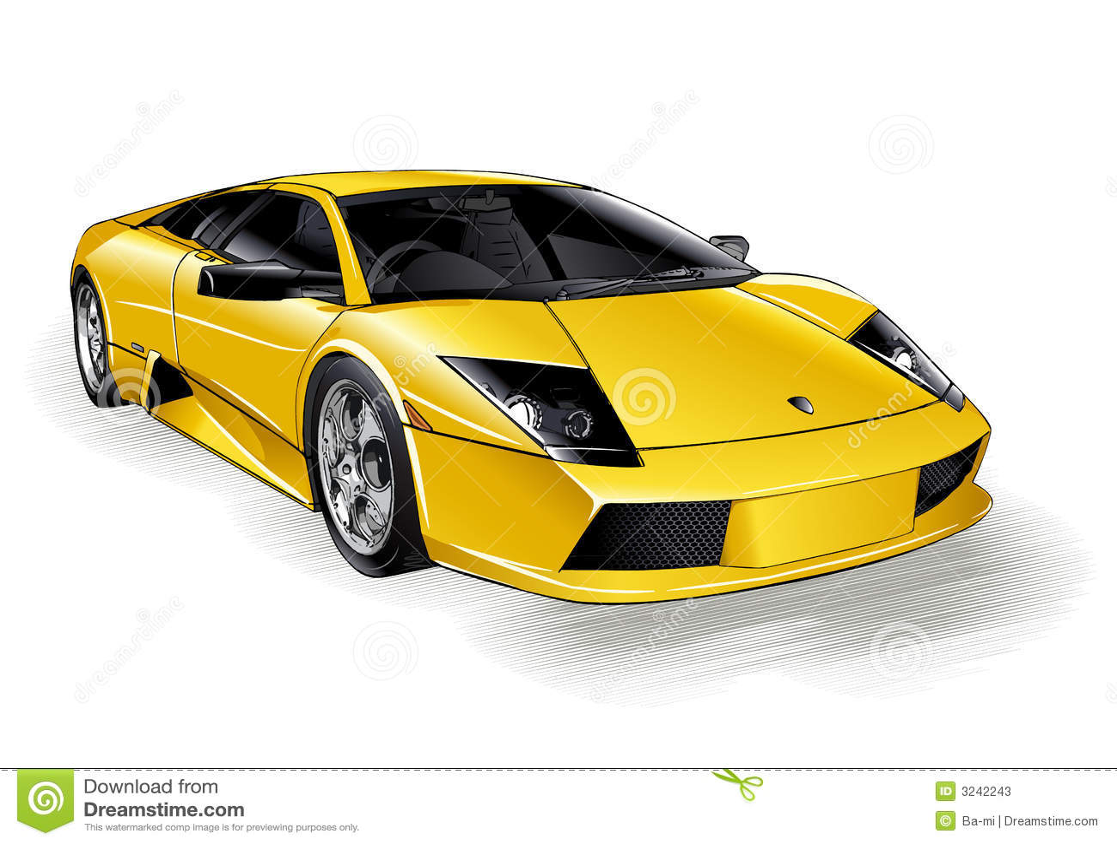 Lamborghini Stock Vector Illustration Of Driving Speed 3242243