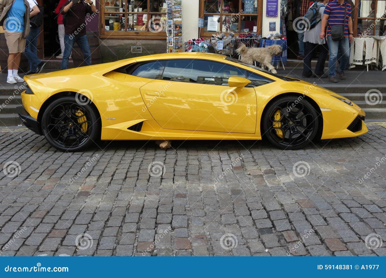 Lamborghini Amarillo Gallardo Willimantic Foto Editorial Imagen De