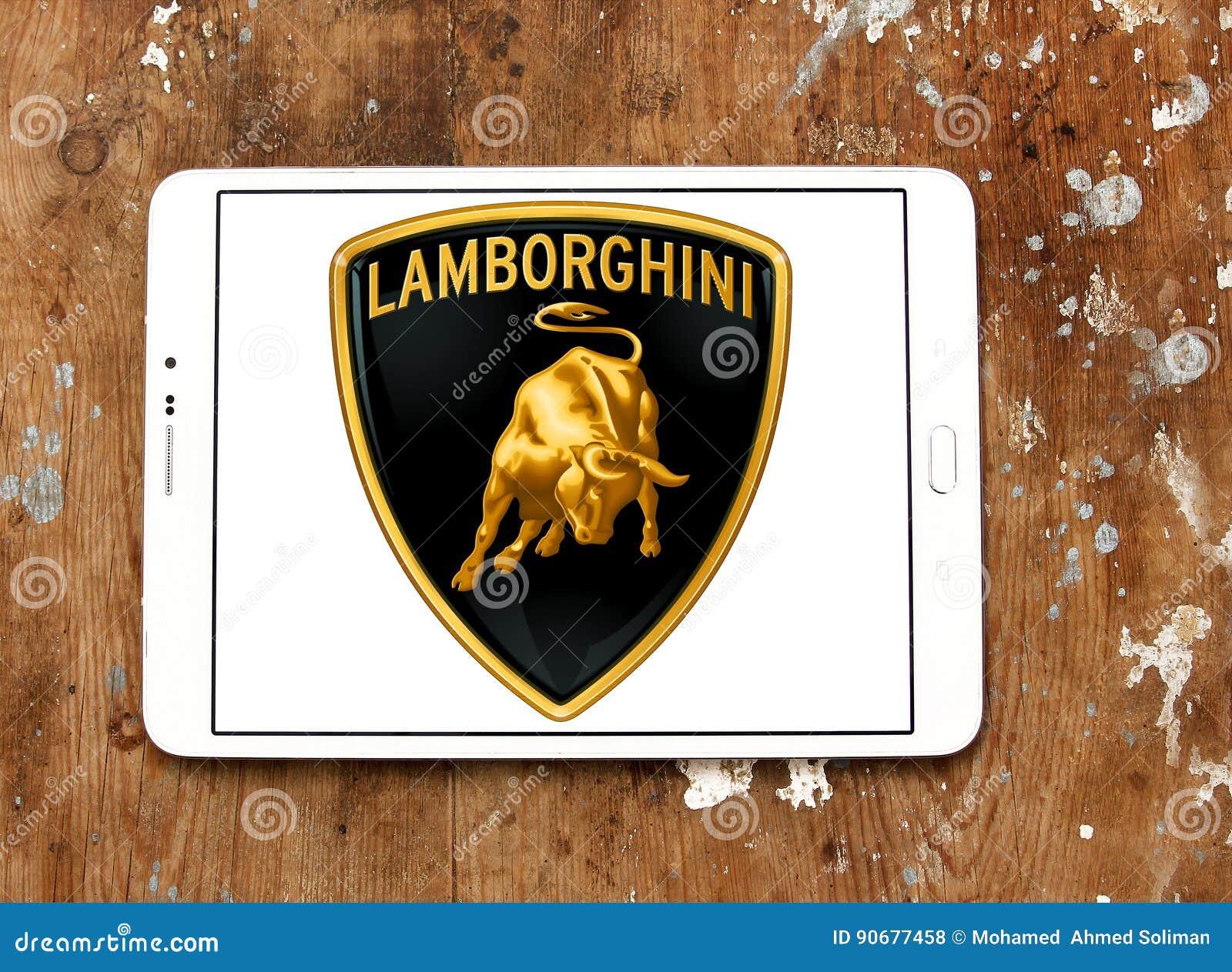 Lamborghini Autoembleem Redactionele Stock Foto Afbeelding