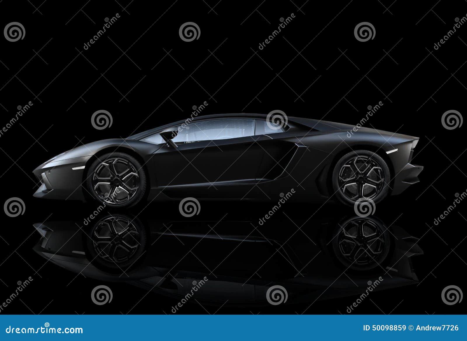 黑Lamborghini Aventador