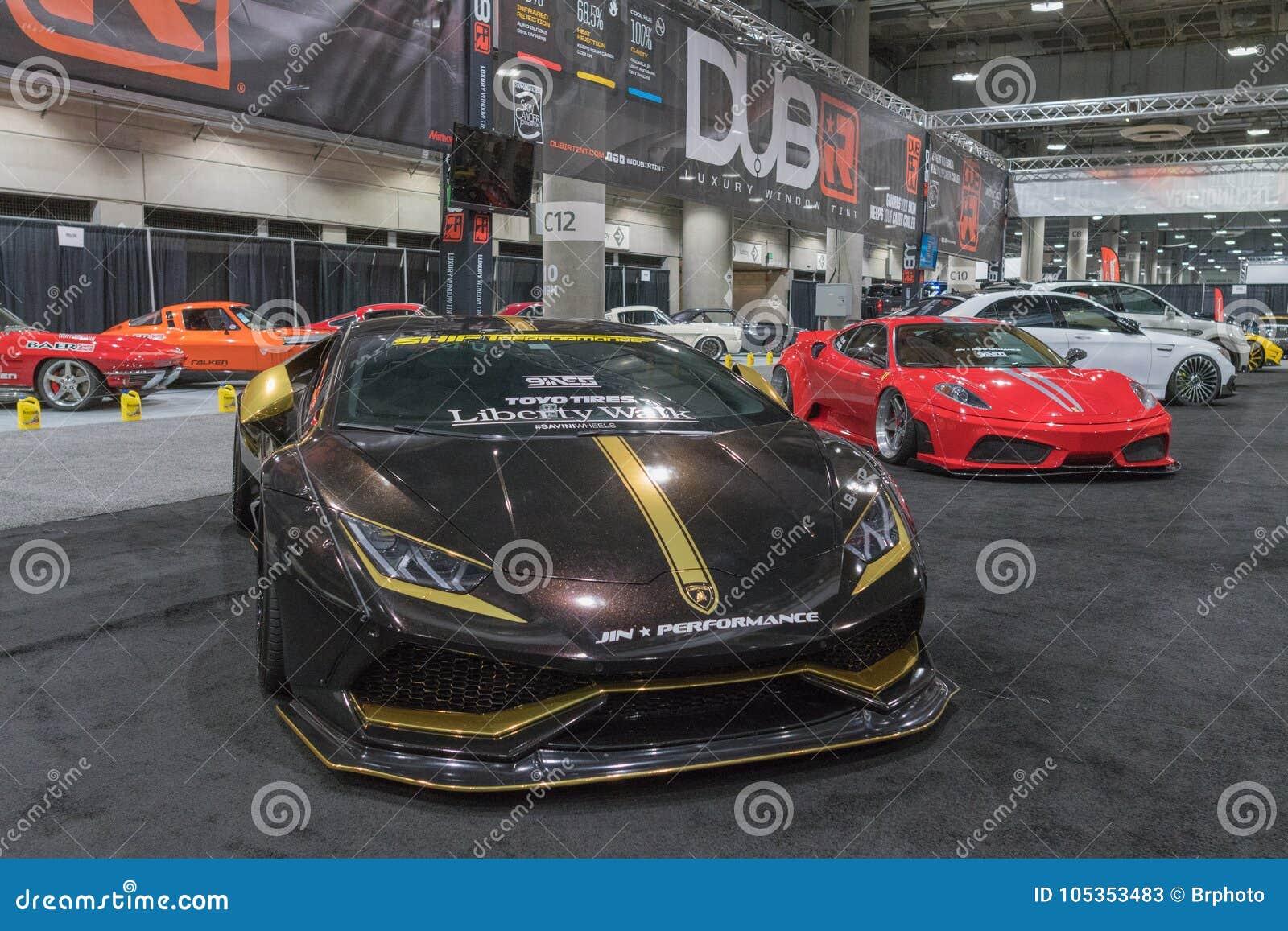 Lamborghini Aventador on display during LA Auto Show