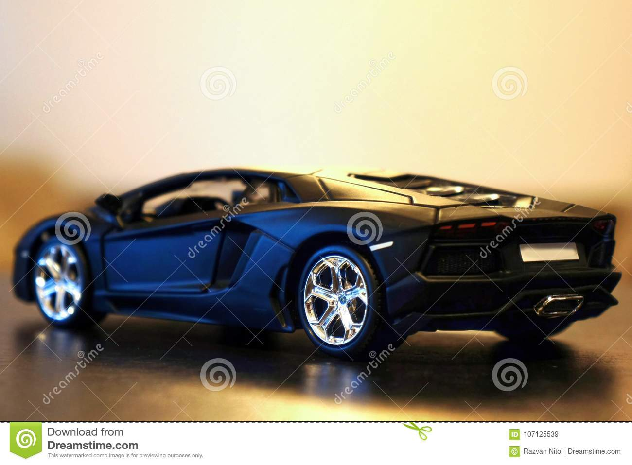 Lamborghini Aventador Lp700 4 Model Car Lateral Rear Editorial Stock