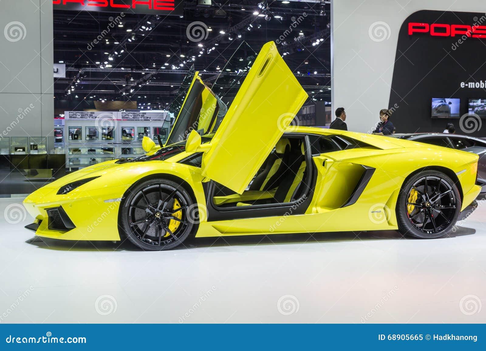 Lamborghini Aventador LP 700-4 ha mostrato in Tailandia il trentasettesimo salone dell automobile internazionale di Bangkok