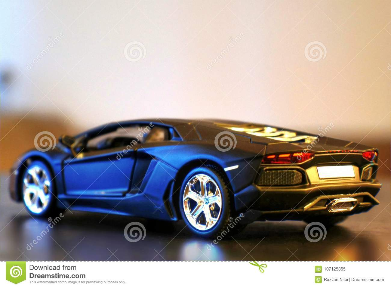 Lamborghini Aventador Lp700 4 Model Car Lateral Rear Editorial Image