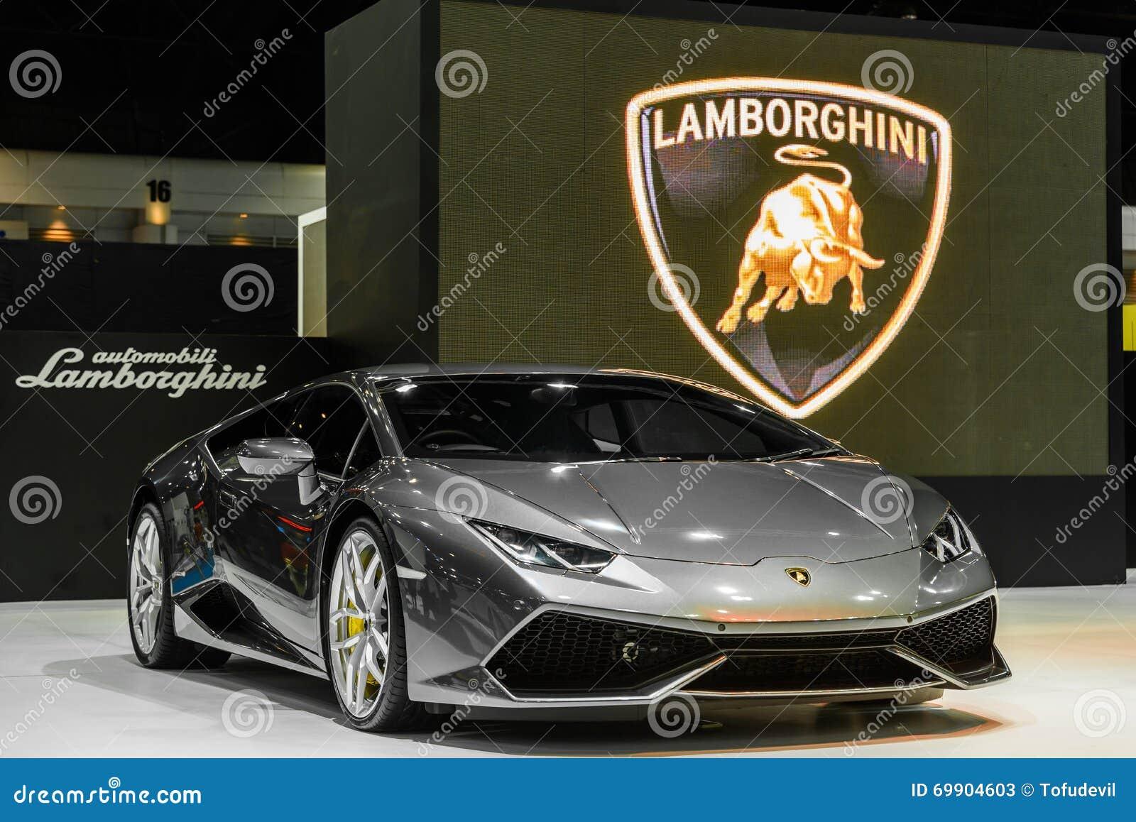Lamborghini Aventador su esposizione al trentasettesimo salone dell automobile internazionale di Bangkok