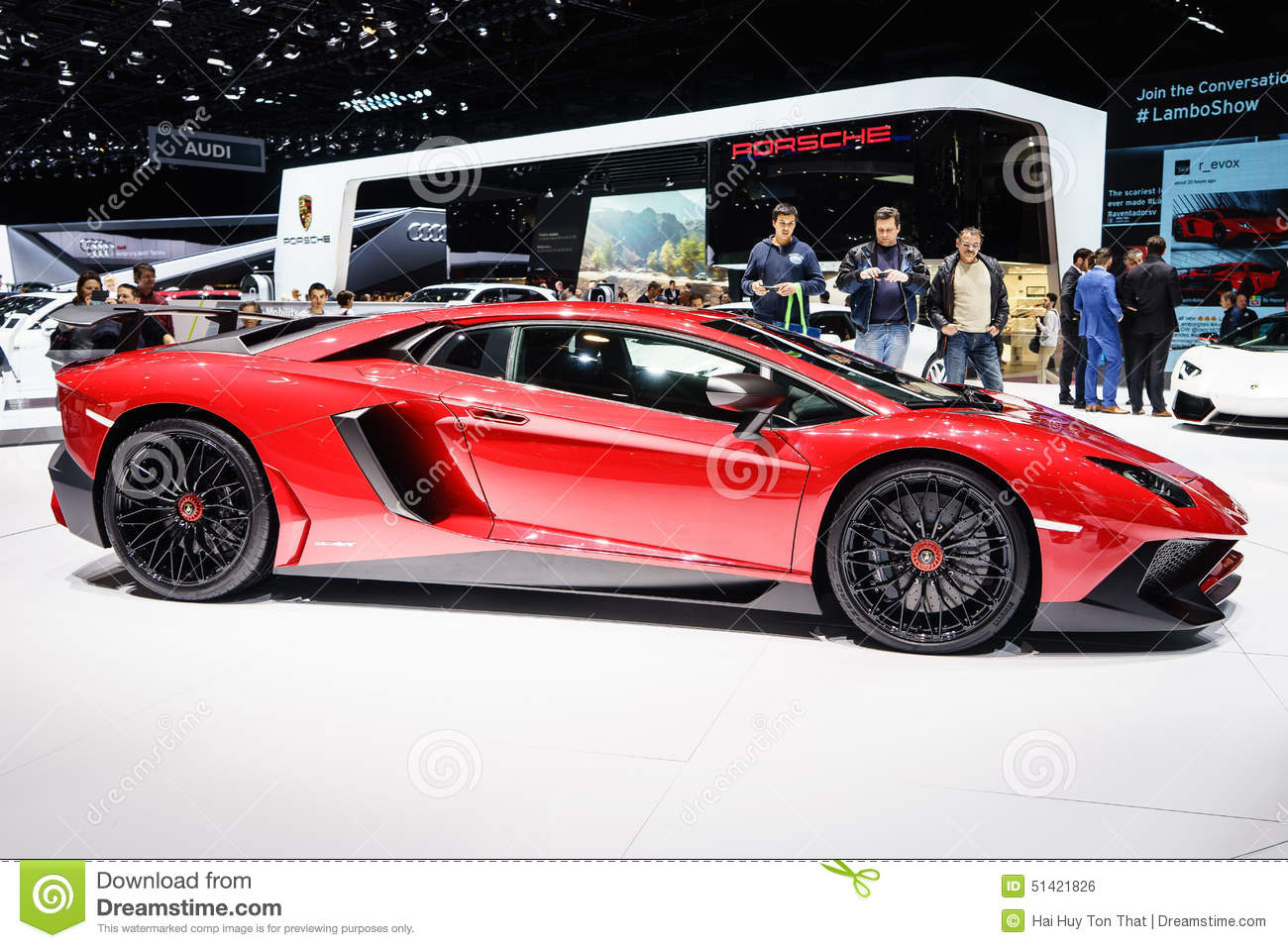 lamborghini aventador sv salon de l 39 automobile geneve 2015 photo ditorial image 51421826. Black Bedroom Furniture Sets. Home Design Ideas