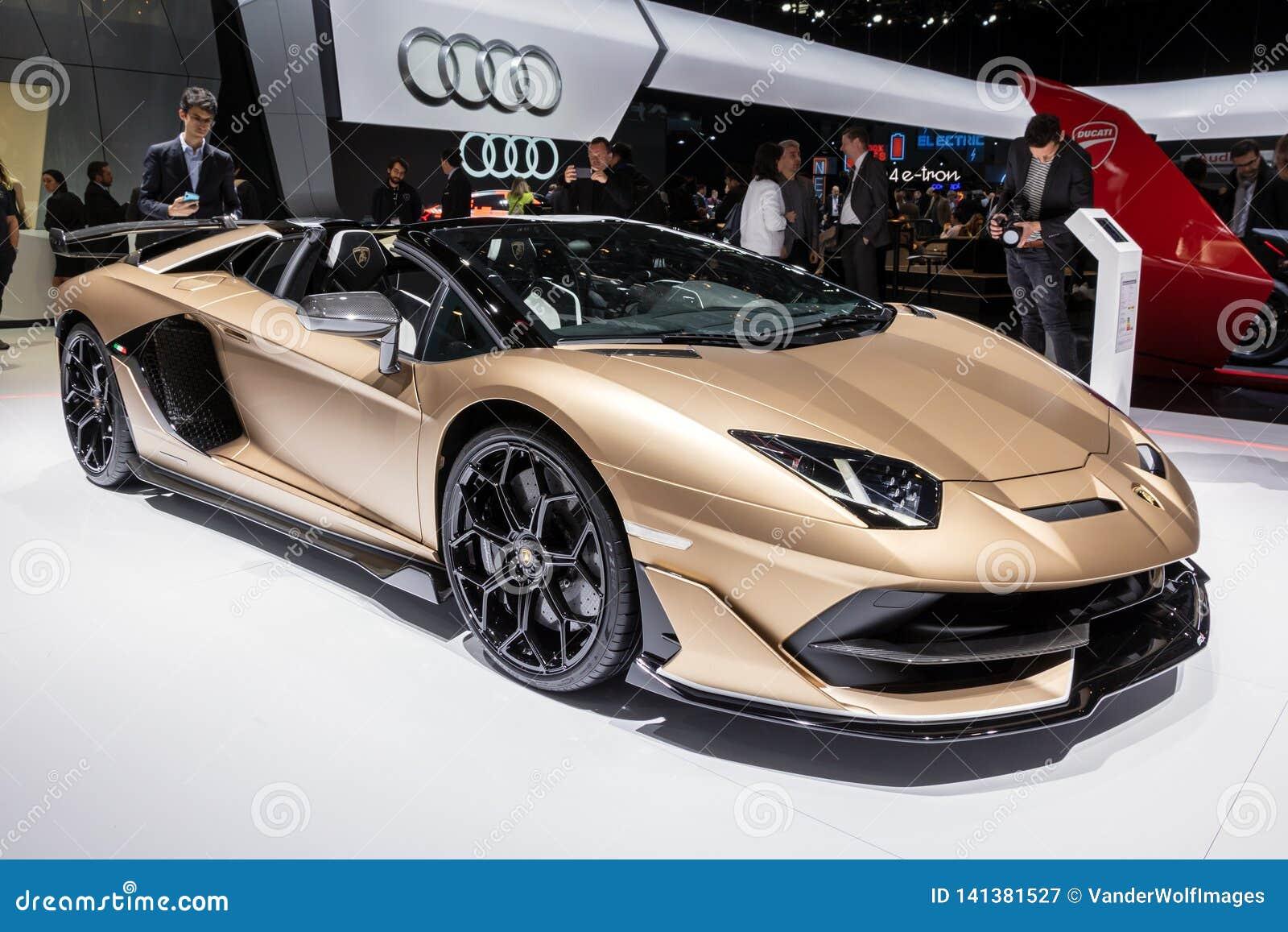 Lamborghini Aventador Svj Roadster Sports Car Editorial Photography