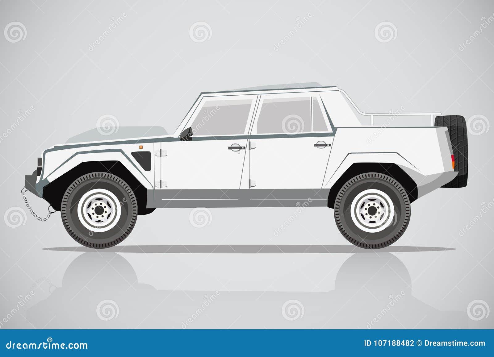 Lamborghini Car Suv Side View Stock Vector Illustration Of