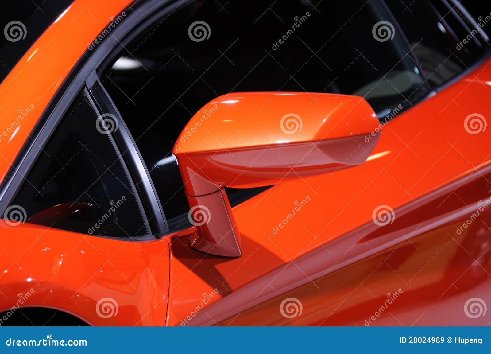 Lamborghini Car Wing Mirror Royalty Free Stock Images