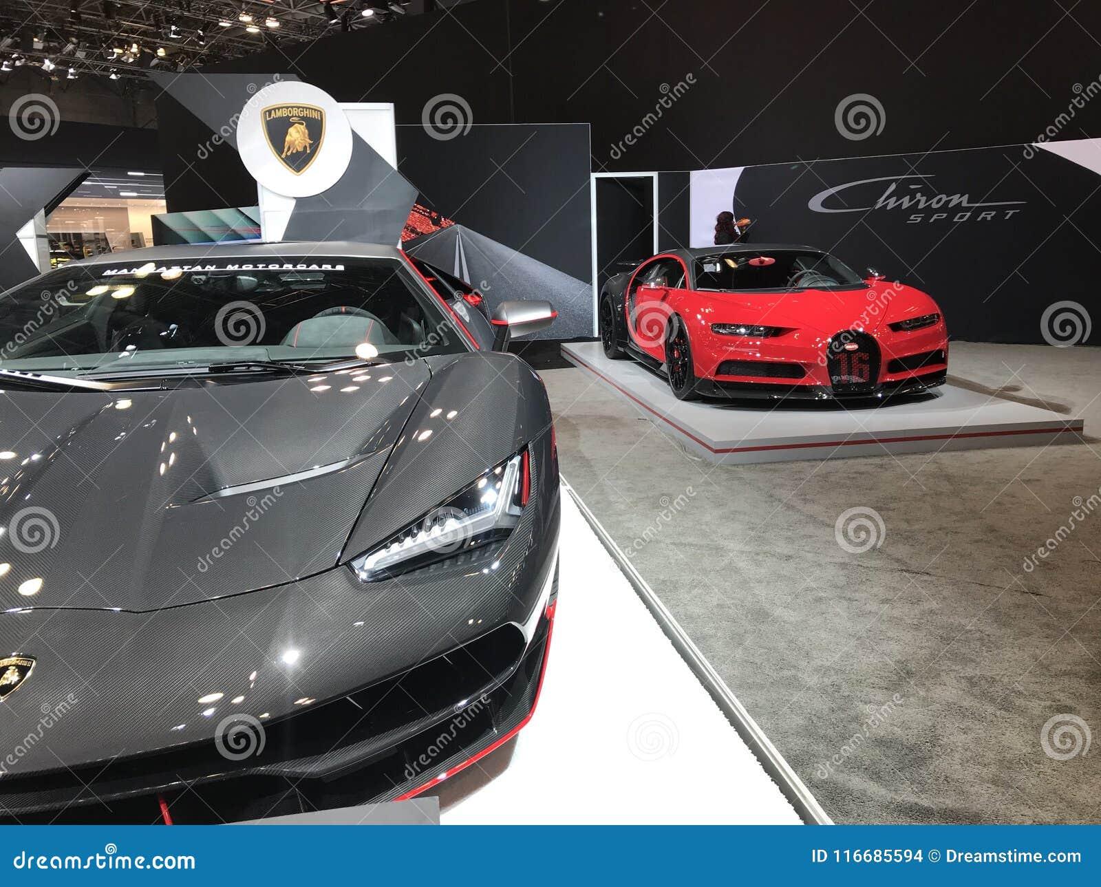 Lamborghini Centenario Bugatti Chiron Sport Editorial Stock Image