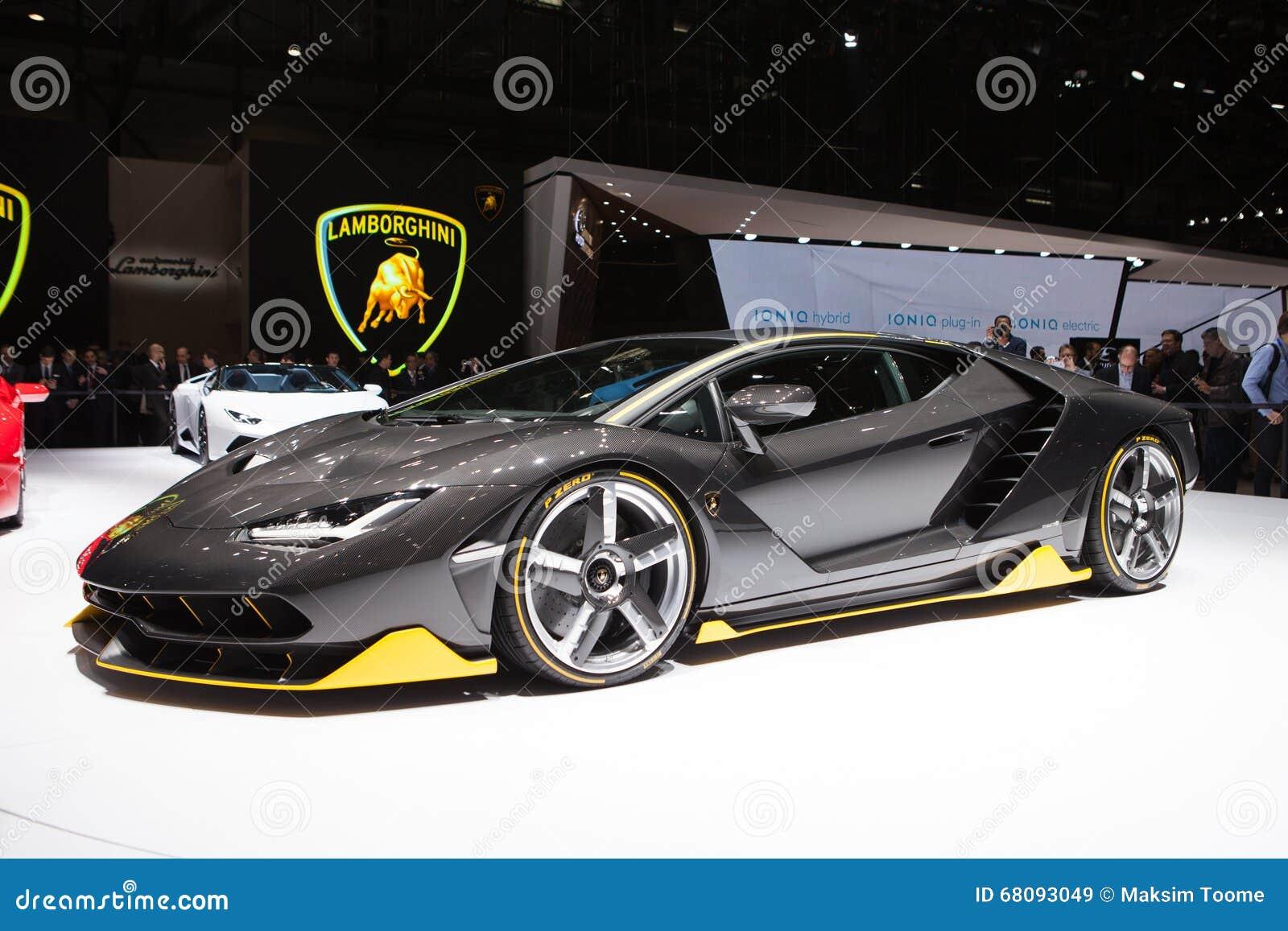 Lamborghini Centenario In Geneva Editorial Stock Image Image Of