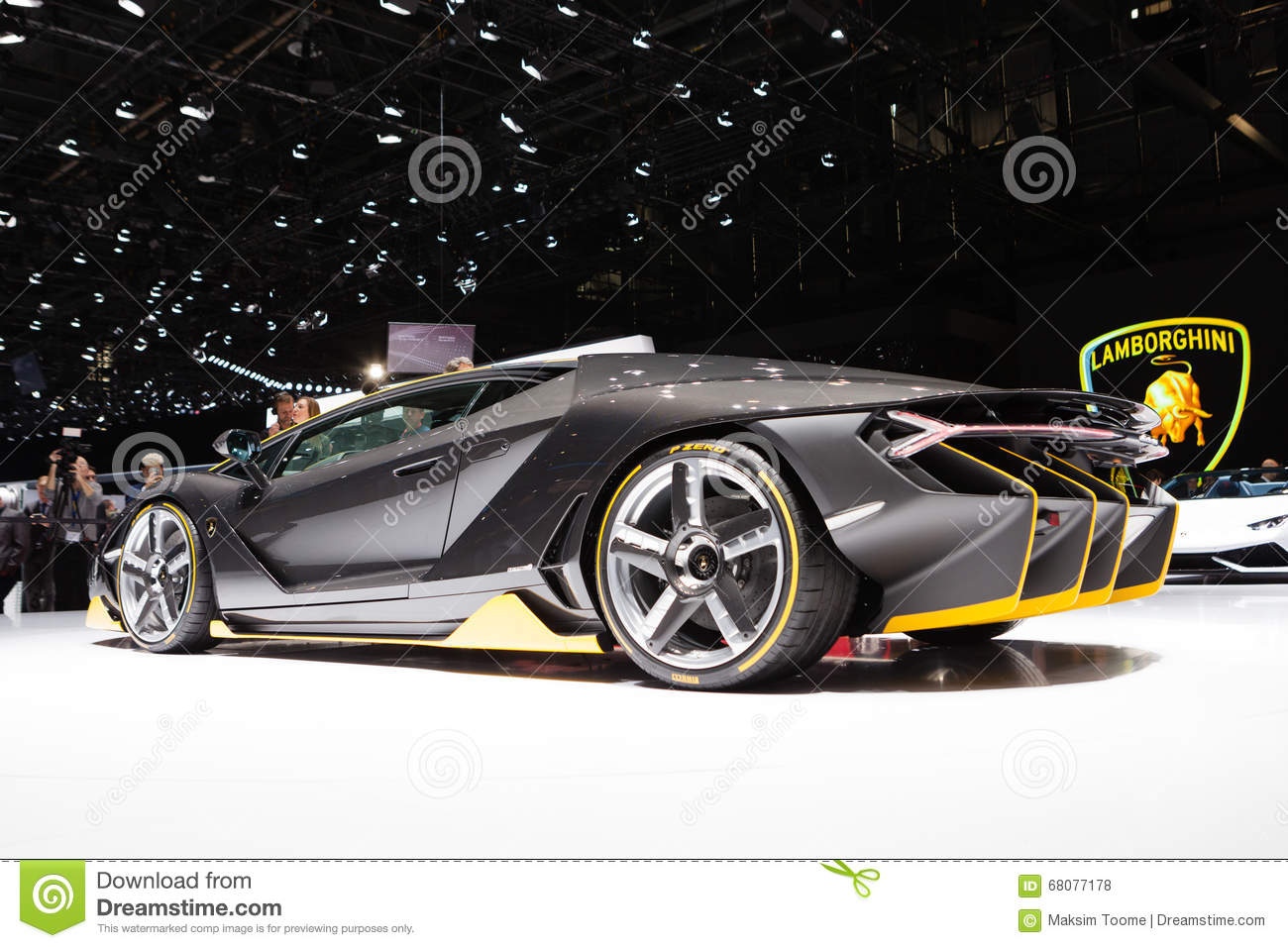 lamborghini centenario in geneva editorial stock photo - image of