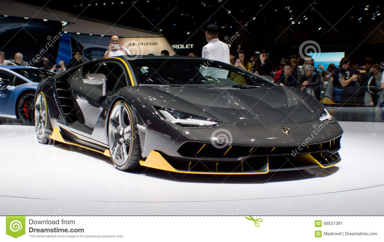 Lamborghini Centenario Lp770 4 At Geneva 2016 Editorial Photo