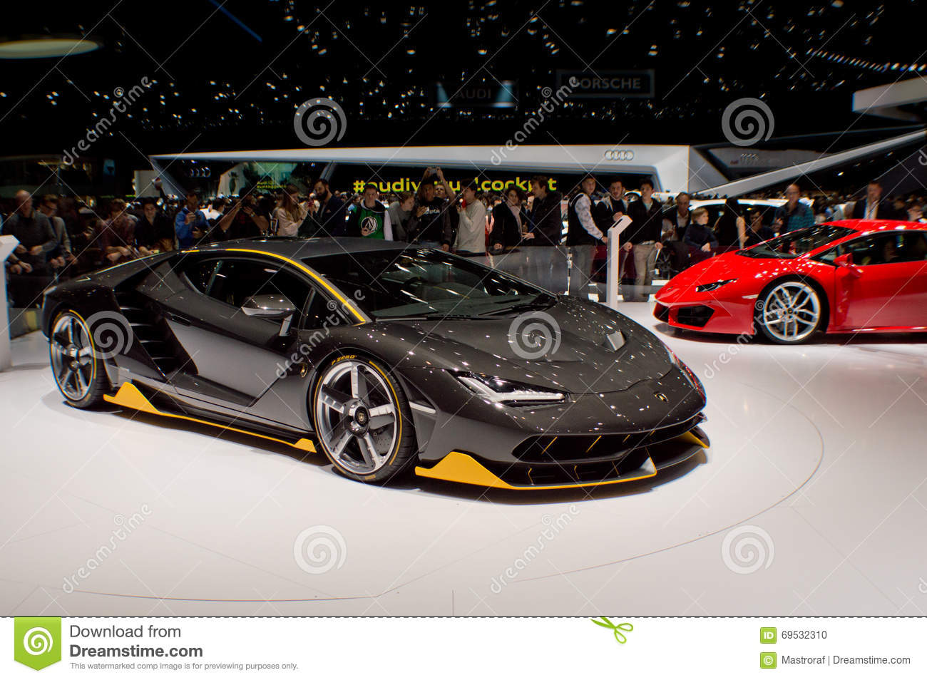 lamborghini centenario lp770-4 at geneva 2016 editorial image