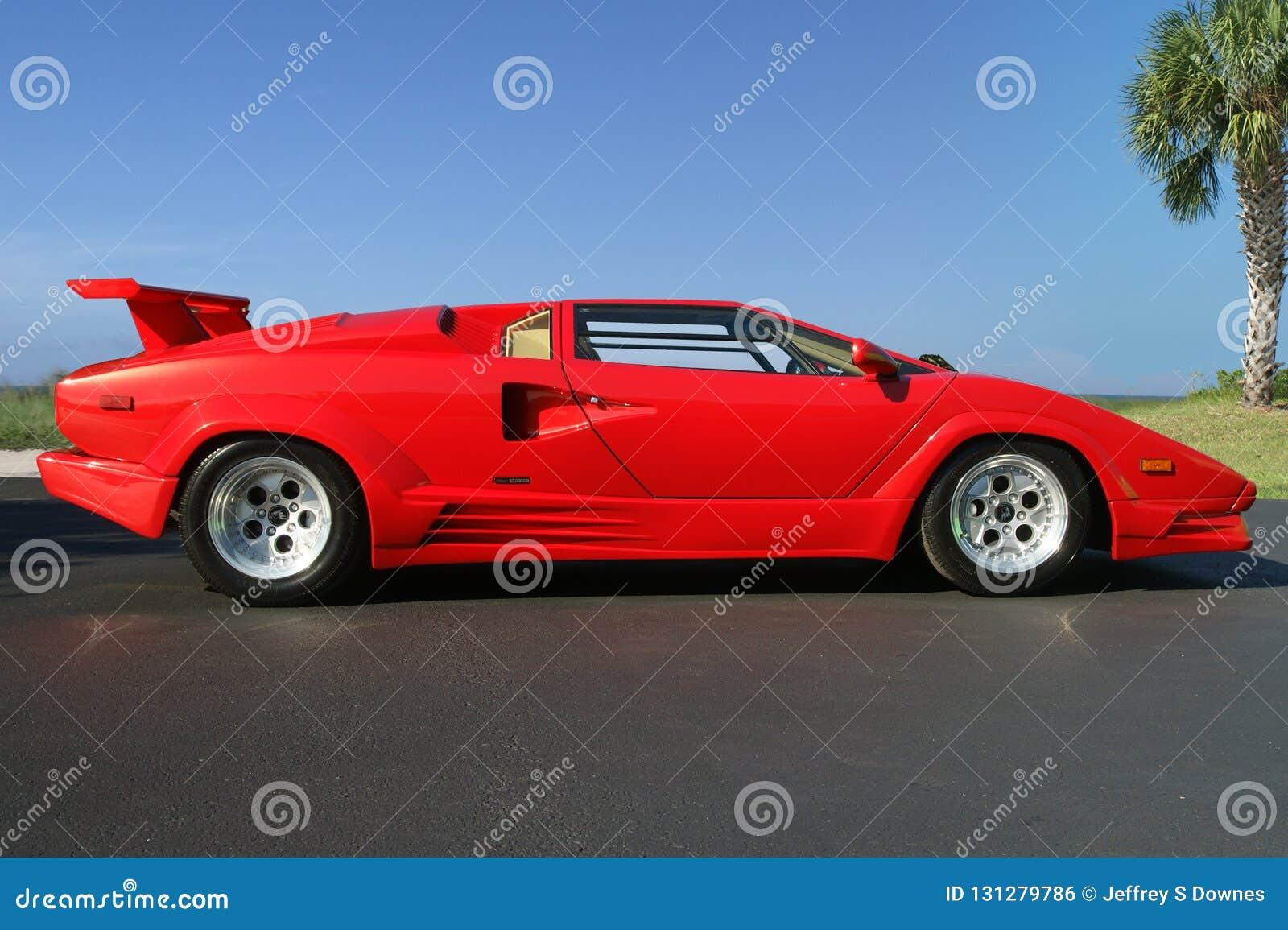 1989 Lamborghini Countach 25th Anniversary Side View Editorial Photo