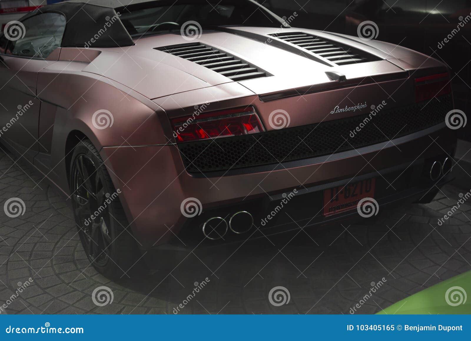 Lamborghini Gallardo Coupe Cabriolet Back View Editorial Image