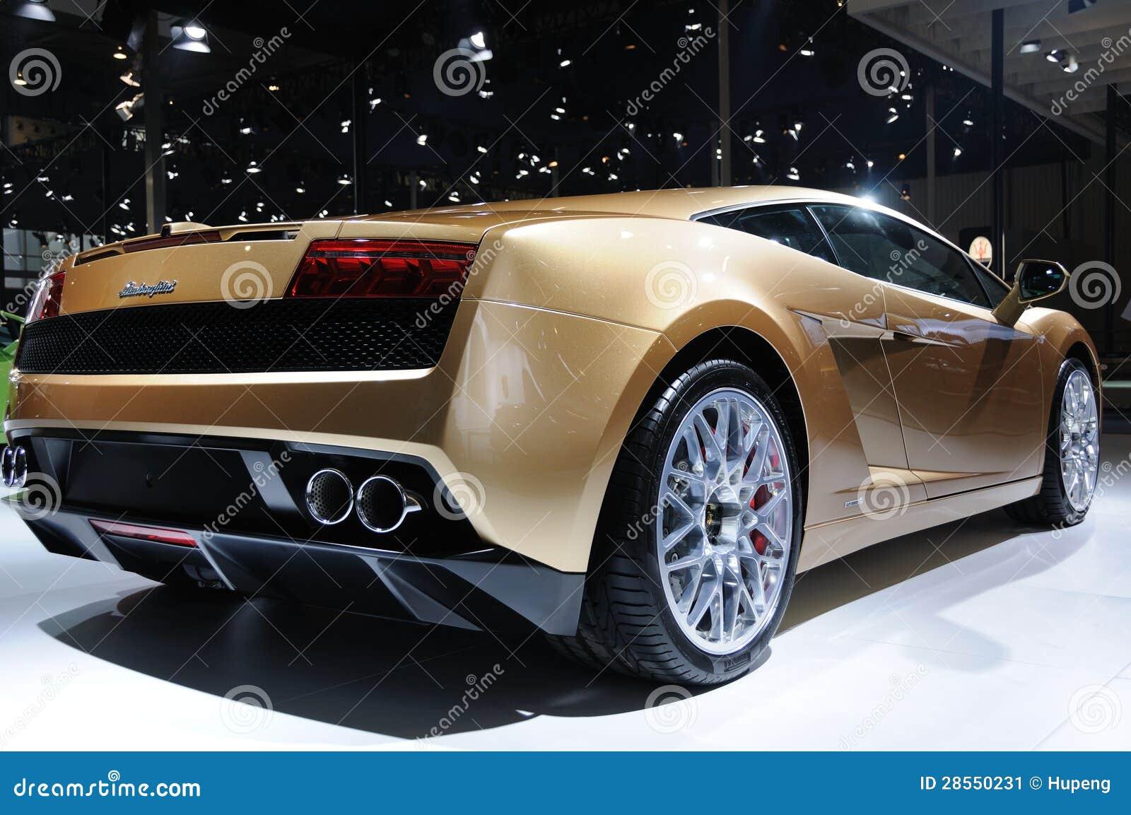 Lamborghini Gallardo Lp 560 4 Rear Editorial Photo Image Of Gold