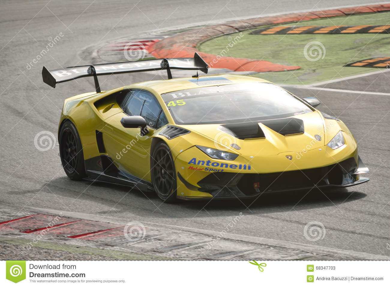 lamborghini hurac n super trofeo 2016 at monza editorial stock photo image 68347703. Black Bedroom Furniture Sets. Home Design Ideas