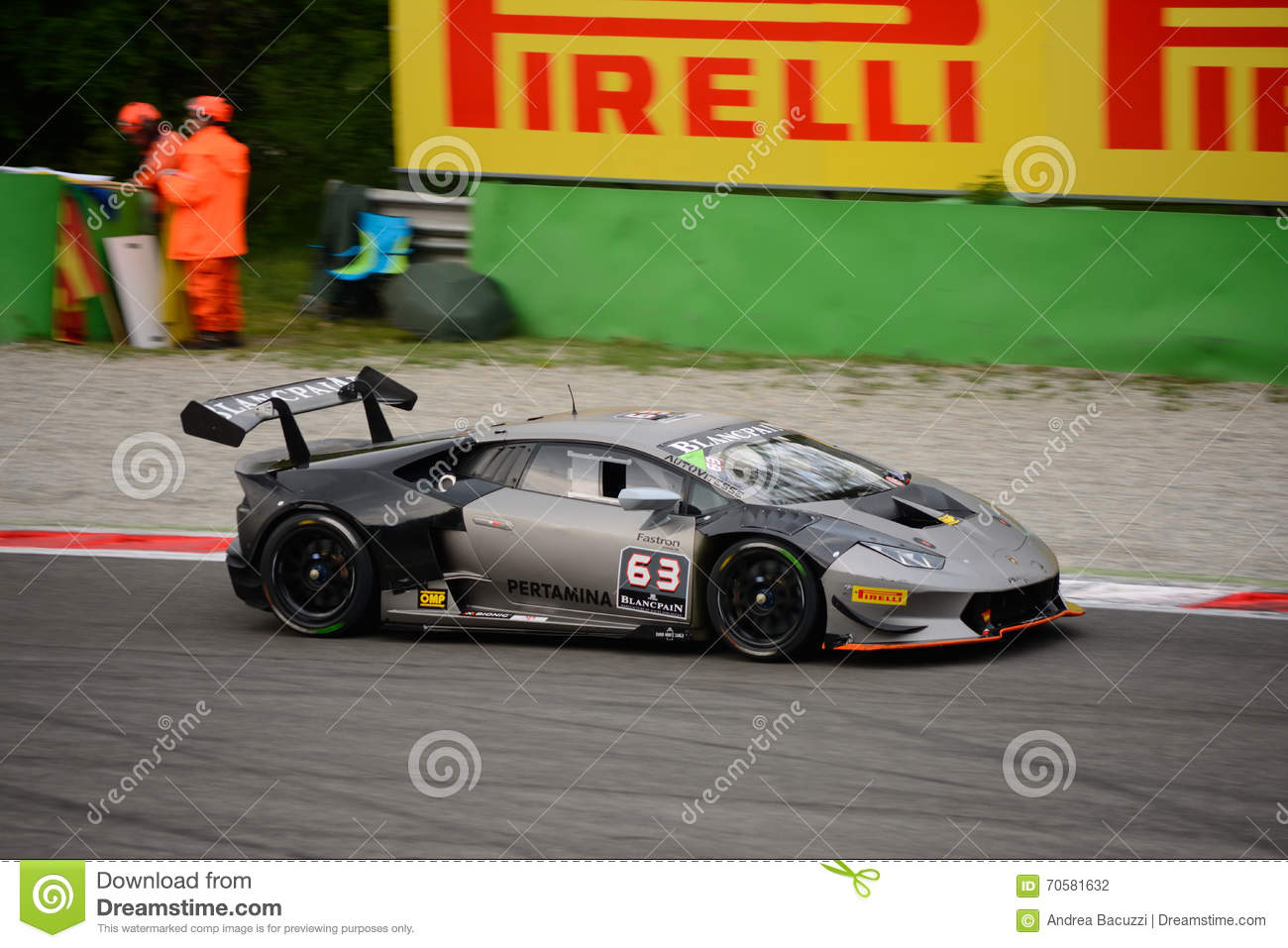 Lamborghini Huracán Super Trofeo Race At Monza