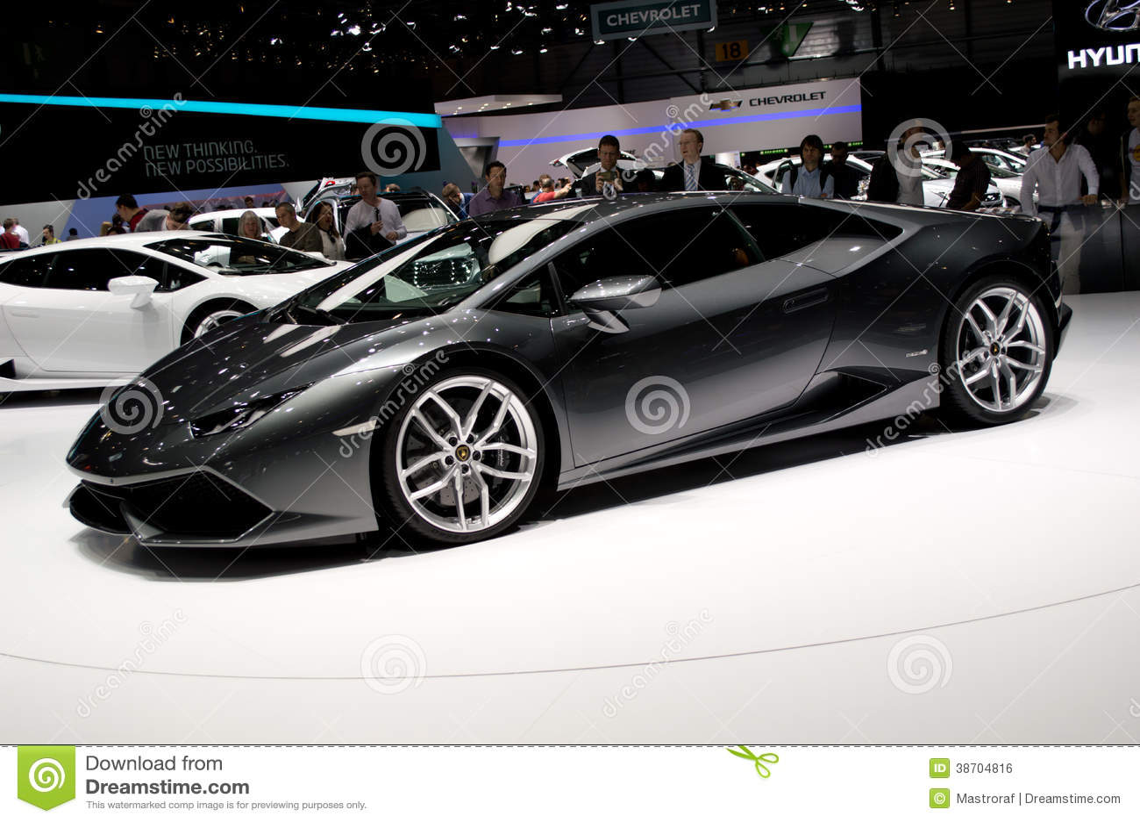 Lamborghini Huracan Genf 2014 Redaktionelles Foto Bild 38704816