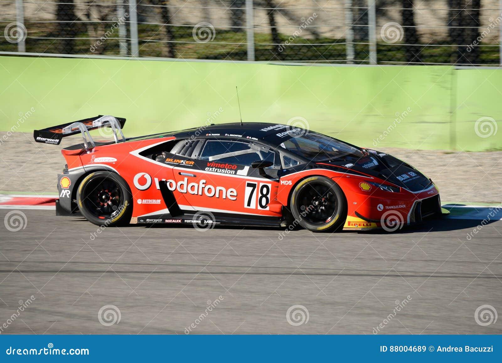 Lamborghini Huracan Gt3 Racing Car At Monza Editorial Stock Image