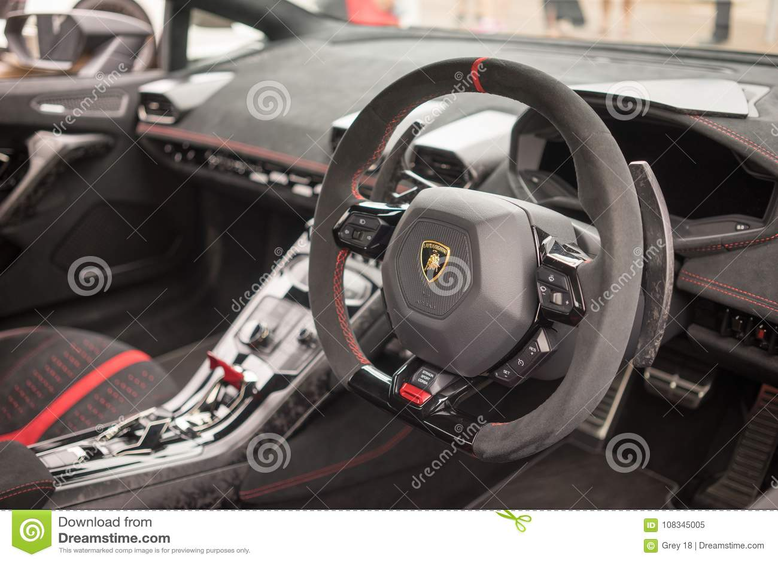 Lamborghini Huracan Lp640 Performante Interior Dashboard Editorial