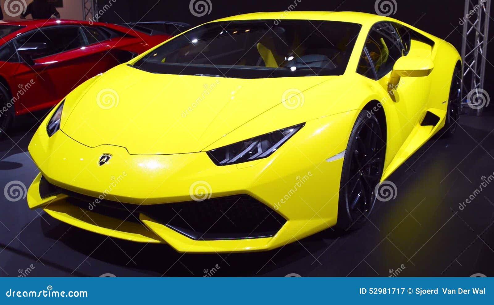 Lamborghini Huracan Sports Car Front View Stock Video Video Of