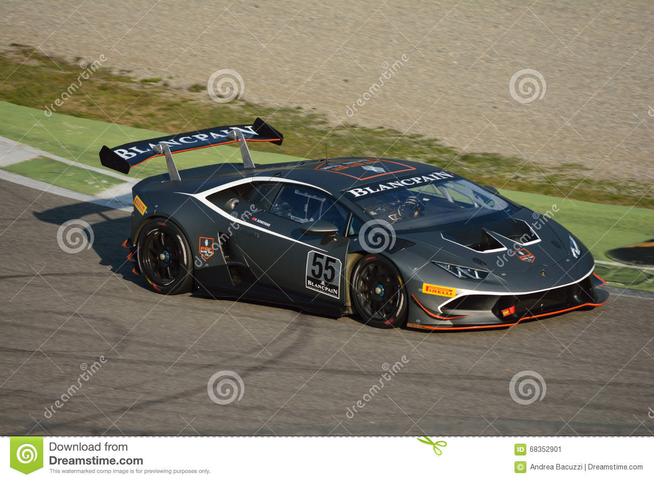 lamborghini hurac n super trofeo 2016 at monza editorial photo image 68352901. Black Bedroom Furniture Sets. Home Design Ideas