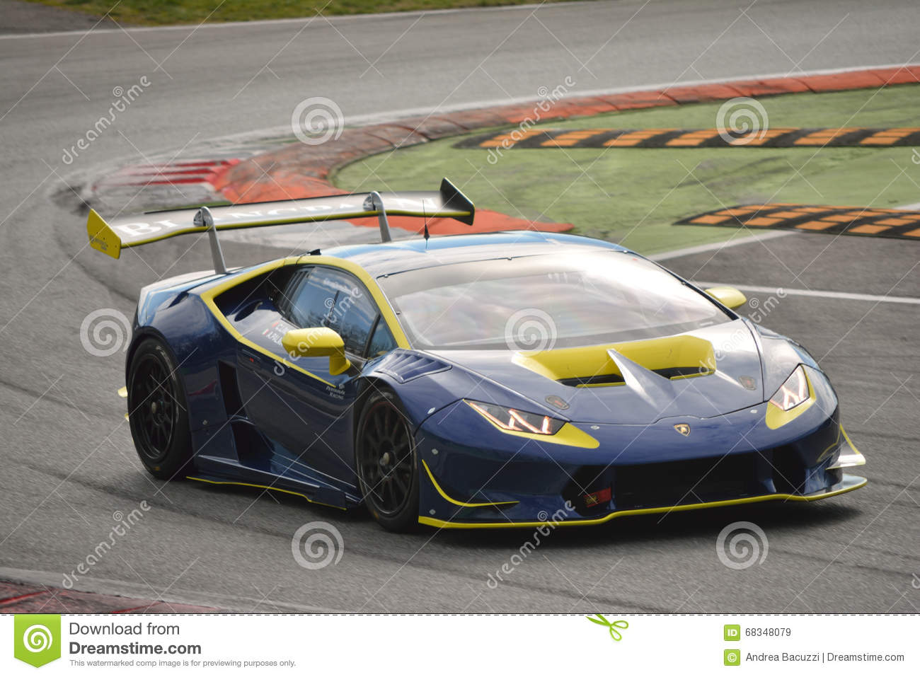 lamborghini hurac n super trofeo 2016 at monza editorial stock image. Black Bedroom Furniture Sets. Home Design Ideas