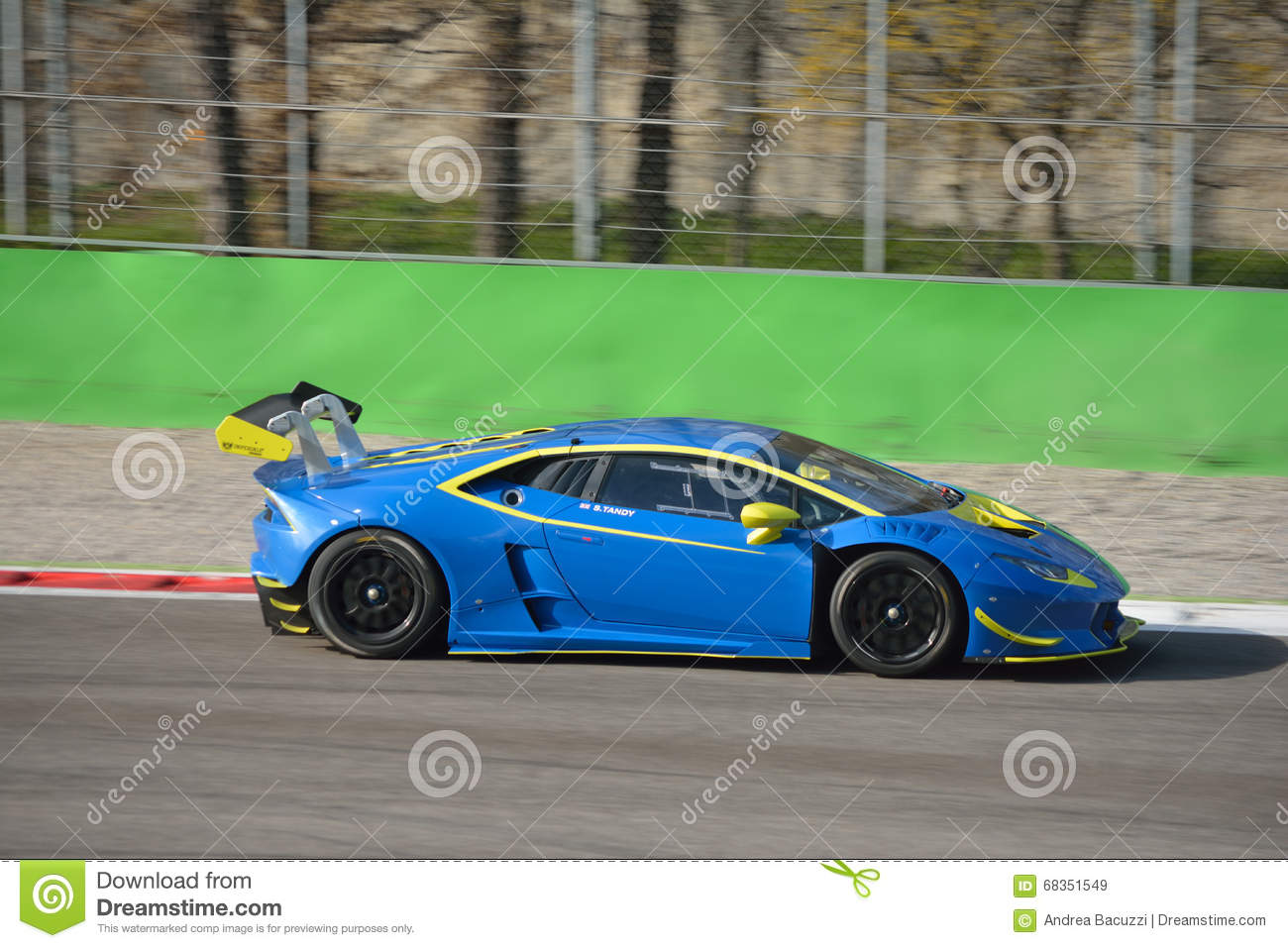 lamborghini hurac n super trofeo 2016 at monza editorial stock image image 68351549. Black Bedroom Furniture Sets. Home Design Ideas