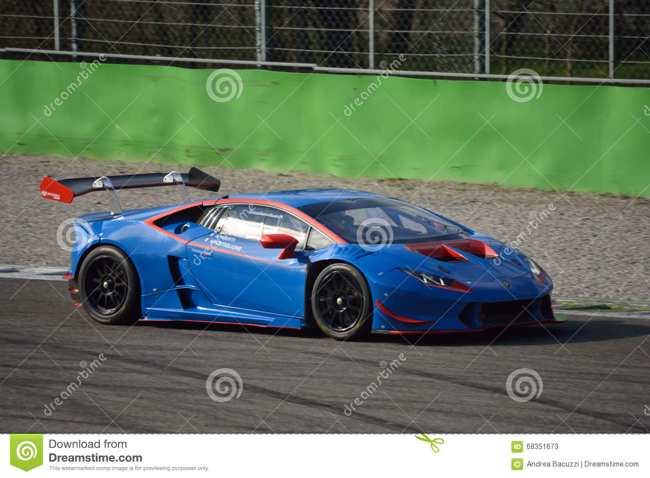 lamborghini hurac n super trofeo 2016 at monza editorial stock photo image 68351673. Black Bedroom Furniture Sets. Home Design Ideas