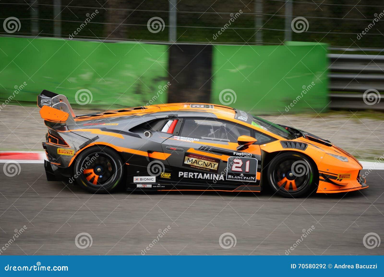 Lamborghini Huracán Super Trofeo Race At Monza Editorial
