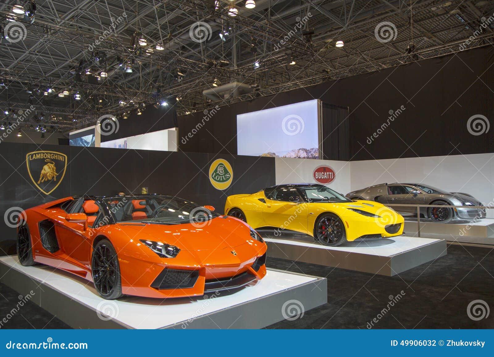 Lamborghini Lotus And Bugatti Luxury Sport Cars Editorial
