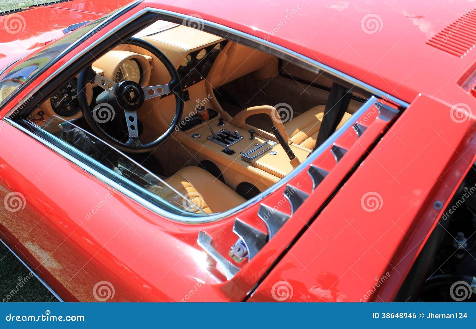 Lamborghini Miura Supercar Window Editorial Photo Image