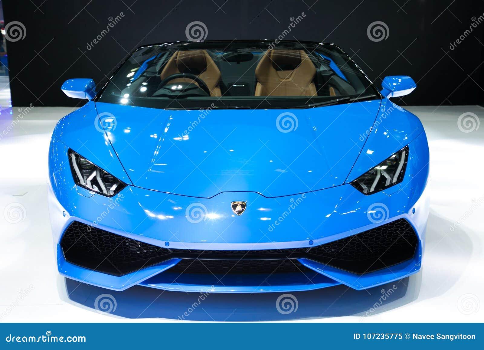 Lamborghini på skärm i Bangkok den internationella motoriska showen