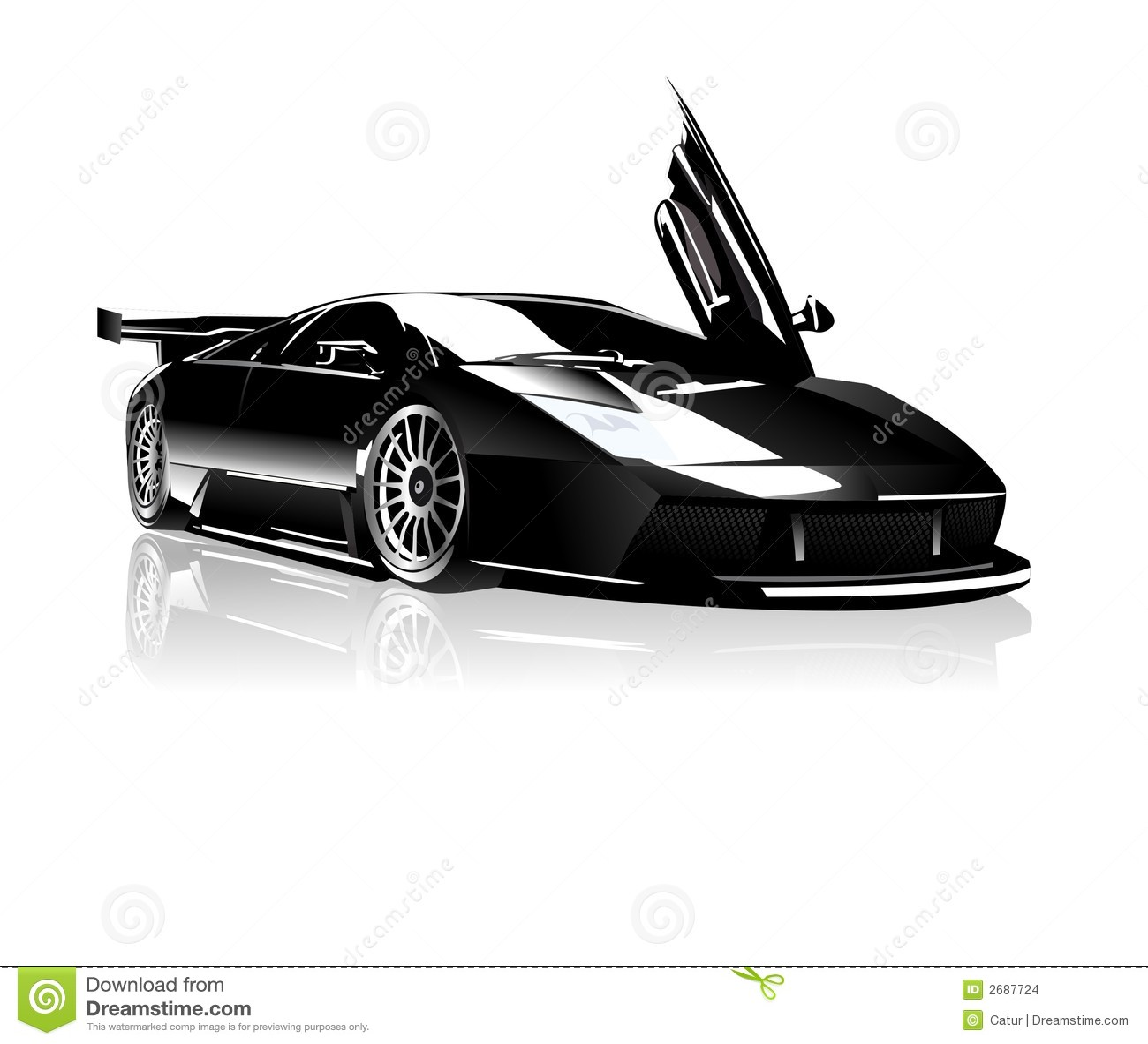 Lamborghini preto
