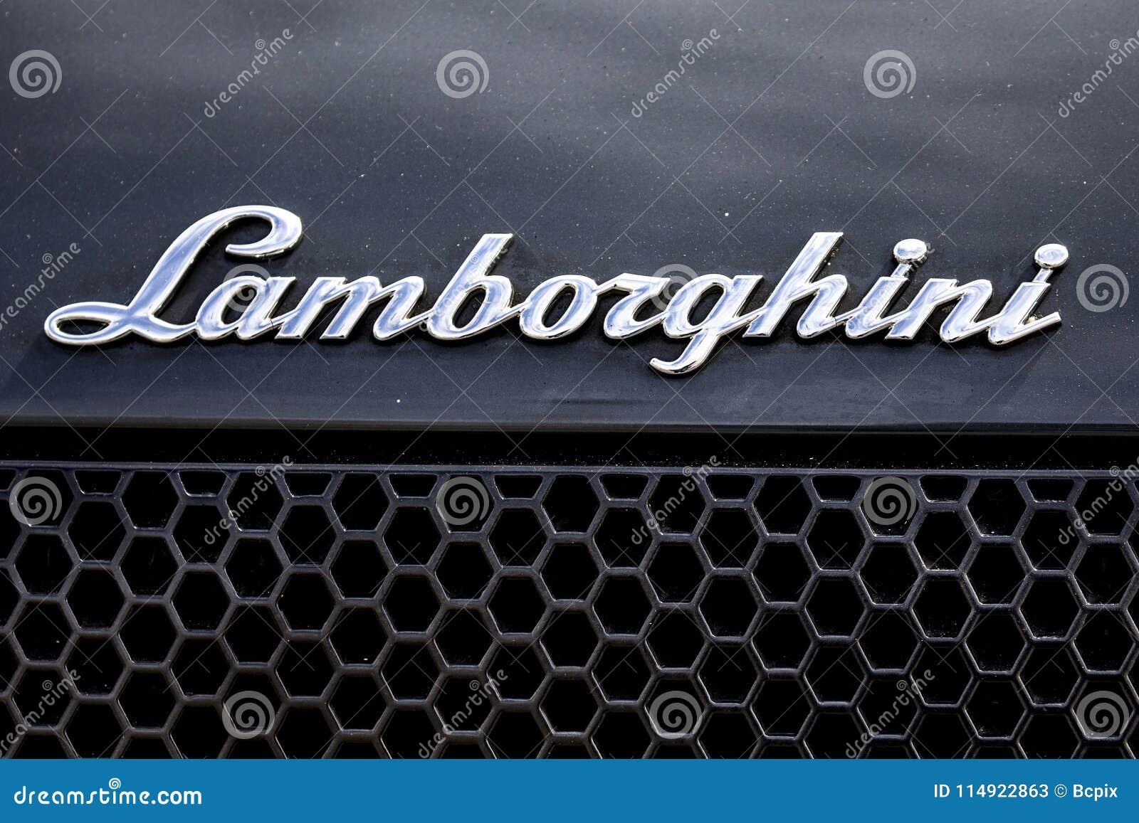 Lamborghini Script Logo Editorial Stock Photo Image Of Fast 114922863