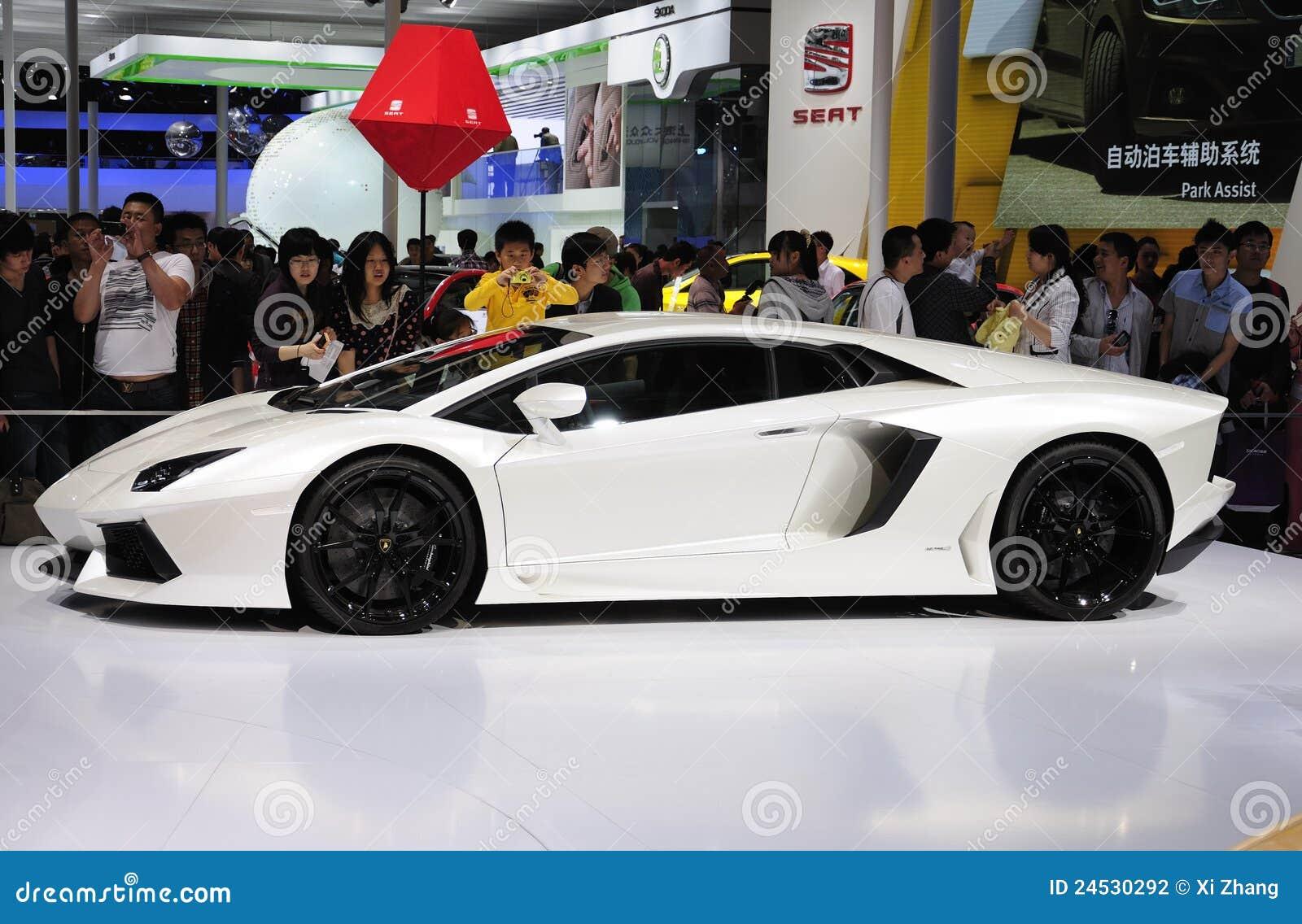 lamborghini sport car editorial photography. image of show - 24530292