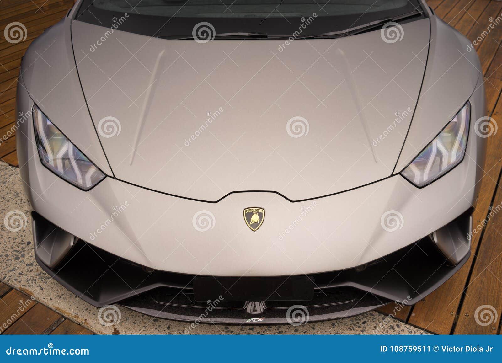 Lamborghini Sports Car Front View Editorial Photo Image Of Italian