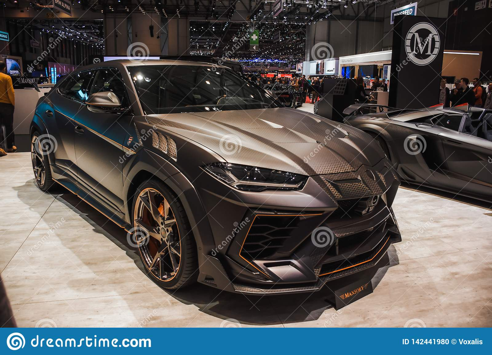New Lamborghini Urus  Exhibition Center In Geneva In 2019