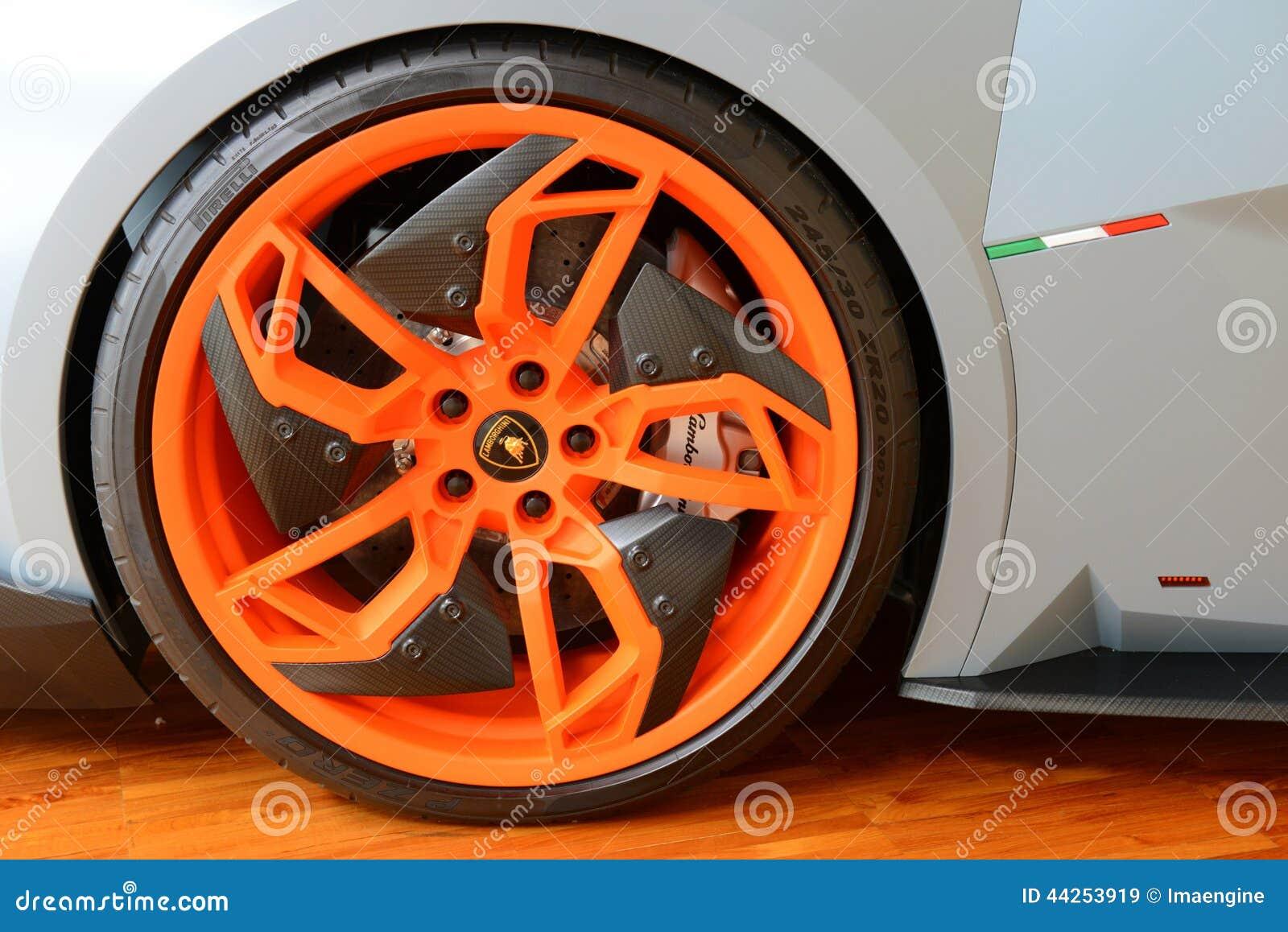 Lamborghini Egoista Wheel Details Editorial Stock Image Image 44253919
