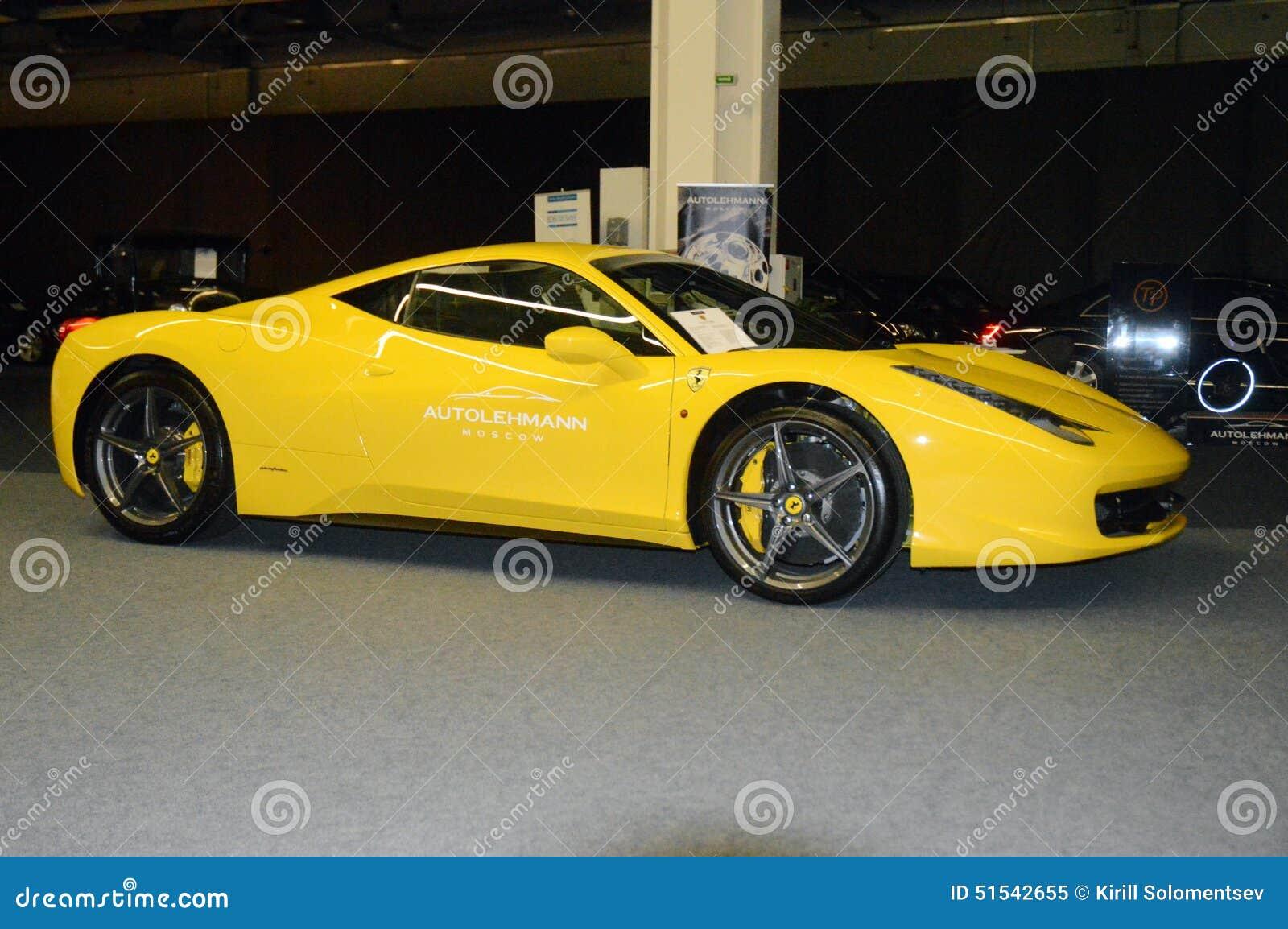 Ferrari 458 Italia Yellow Color In The Showroom Editorial Image Image Of Maranello Color 51542655